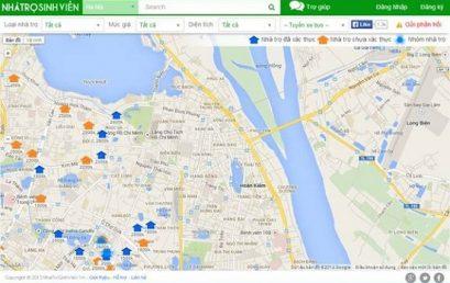 Bản đồ nhà trọ trực tuyến miễn phí dành cho sinh viên