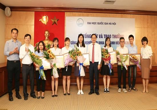 Ba công trình của Trường Đại học Công nghệ giành Giải thưởng sinh viên nghiên cứu khoa học cấp ĐHQGHN năm 2017